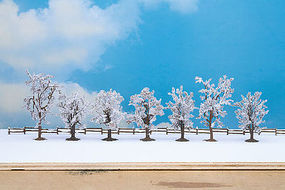 Noch 7 Winter Deciduous Trees w/Snow (8 - 10cm) Model Railroad Trees #25075