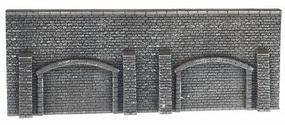 Noch Gray Brick Arcade Wall N Scale Model Railroad Accessory #34858