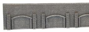 Noch Extra Long Gray Brick Arcade Wall N Scale Model Accessory #34859