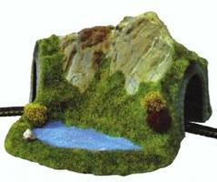 Noch Single Track Curved Tunnel with Pond Z Scale Model Railroad Tunnel #44670