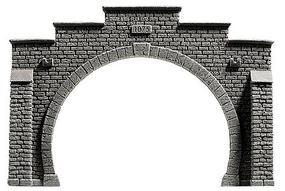 Noch Double-Track Tunnel Portal ( 21 x 14.5cm) HO Scale Model Railroad Tunnel #58052