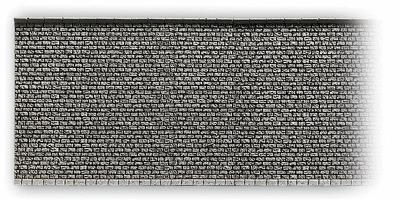 Noch GMBH & Co. Gray Brick Wall (33.5 x 12.5cm) -- HO Scale Model Accessory -- #58054