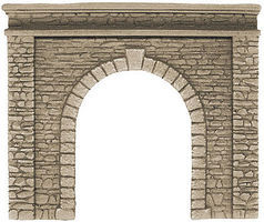 Noch Single-Track Natural-Stone Tunnel Portal HO Scale Model Railroad Tunnel #58061