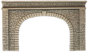 Noch Double-Track Natural-Stone Tunnel Portal HO Scale Model Railroad Tunnel #58062