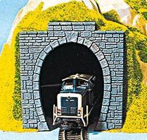 Noch Cut Stone Tunnel Portal (2) HO Scale Model Railroad Tunnel #60010