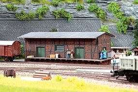 Noch Tannau Brick/Half-Timber Freight House Kit HO Scale Model Building #66102