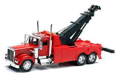 New Ray Toys Kenworth W900 Tow Truck -- 1/32 Scale Diecast Model Truck -- #10873