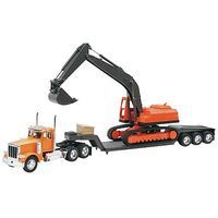 New-Ray Peterbilt 379 Lowboy w/Excavator Color Will Vary 1/32 Scale Diecast Model Truck #11283a