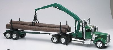 New Ray Toys Kenworth W900 w/Log Hauler Trailer Color Will Vary -- Diecast Model Truck -- 1/32 scale -- #13743