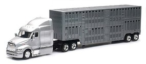 New-Ray 1/43 Peterbilt 87 w/Pot Belly Livestock Trailer (Die Cast)