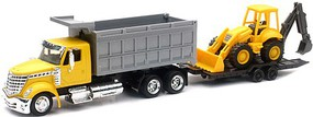 New-Ray 1/43 Intl Lonestar Dump Truck w/Wheel Loader (Die Cast)