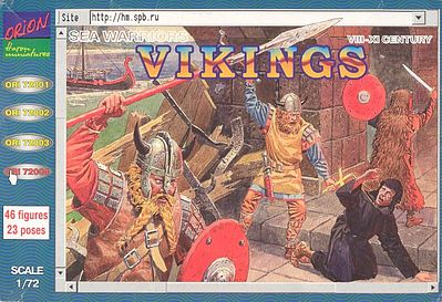 Orion Figures Vikings Sea Warriors VIII-XI Century (46) -- Plastic Model Military Figure -- 1/72 Scale -- #72004