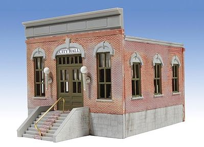 O-Gauge Railroading City Hall 1-Story Building Kit -- O Scale Model Railroad Building -- #303