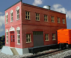 O-Gauge Railroading Homestead Furniture Co. 2-Story Building Kit -- O Scale Model Railroad Building -- #443