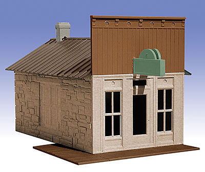 O-Gauge Railroading General Store 1-Story Building Kit -- O Scale Model Railroad Building -- #502