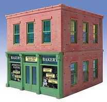 O-Gauge Pedicinis Bakery 2-Story Building Kit O Scale Model Railroad Building #825