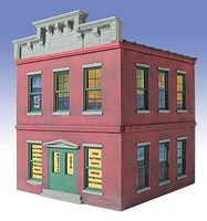 O-Gauge Martys Auto Parts 2-Story Building Kit O Scale Model Railroad Building #828