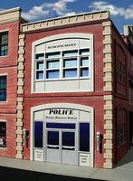 O-Gauge Police Station 2-Story Building Kit O Scale Model Railroad Building #868