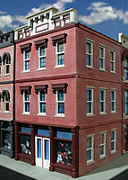 O-Gauge Railroading Bill's Place 3-Story Building Kit -- O Scale Model Railroad Building -- #872