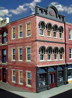 O-Gauge Railroading Granato's Grocery 3-Story Building Kit -- O Scale Model Railroad Building -- #874