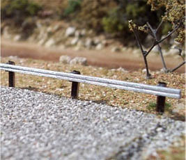 Osborn Model Kits Guard Rails (wooden kit) -- HO Scale Model Railroad Roadway Accessory