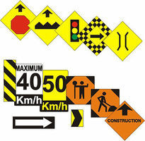 Osborn Assorted Road Signs HO Scale Model Railroad Roadway Accessory #1012