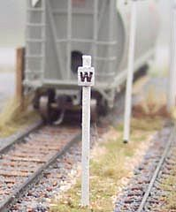 Osborn Model Kits G/P Whistle Posts (wooden kit) -- HO Scale Model Railroad Trackside Accessory -- #1019
