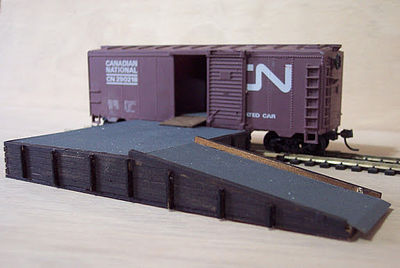 Osborn Model Kits Loading Platform (wooden kit) -- HO Scale Model Railroad Trackside Accessory -- #1043