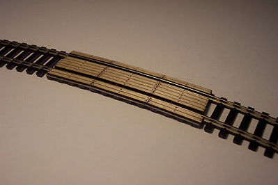 Osborn Model Kits Crossing Boards 18' Radius (wooden kit) -- HO Scale Model Railroad Trackside Accessory -- #1048
