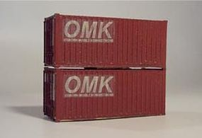 Osborn 20 Intermodal Containers (Wooden Kit) HO Scale Model Train Freight Car Load #1063
