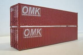 Osborn 40 Intermodal Containers (Wooden Kit) HO Scale Model Train Freight Car Load #1064