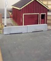 Osborn Concrete Barriers 16 pack (wooden kit) HO Scale Model Railroad Building Accessory #1087