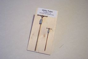 Osborn Utility Poles 8 pack (wooden kit) HO Scale Model Railroad Trackside Accessory #1099