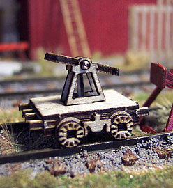 Osborn Model Kits HO Railroad Hand Car static 2P