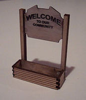 Osborn Welcome Sign N Scale Model Railroad Billboard Sign #3021