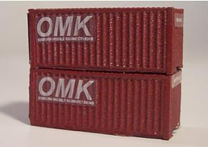 Osborn Model Kits N 20' Intermodal Containers Kit -- N Scale Model Train Freight Car Load -- #3063