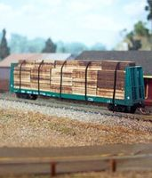 Osborn Flatcar Lumber Load (wooden kit) N Scale Model Train Freight Car Load #3070
