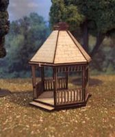 Osborn Gazebo (wooden kit) N Scale Model Railroad Building Kit #3081