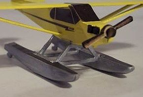 Osborn Model Kits Piper Cub Float Kit -- N Scale Model Railroad Plane Kit -- #3091