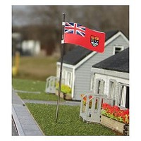 Osborn Canadian Red Ensign Flag 3 pack (wooden kit) N Scale Model Railroad Building Accessory #3111