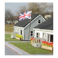 Osborn British Union Jack 3 pack (wooden kit) N Scale Model Railroad Building Accessory #3112