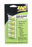 Pacer .01oz. Zap-A-Gap CA+ Single-Use Tubes (5/cd)