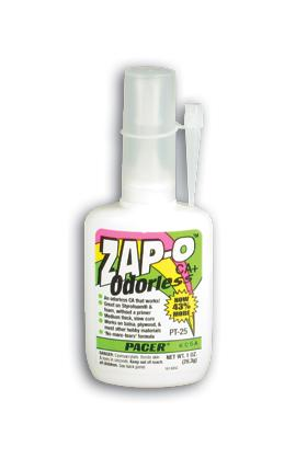 Pacer Glues (bulk of 6) Zap-O Foam Safe CA+ Odorless .7 oz