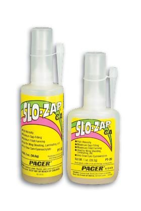 Pacer Glues Slo-Zap CA 2 oz -- Hobby and Craft CA Super Glue -- #pt33