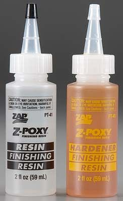 Pacer Glues Z-Poxy Finishing Resin 4oz -- Hobby and Craft Fiberglass Resin -- #pt41