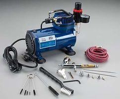 Paasche TG-3F Hobby Package w/Comp Airbrush Compressor #tg-100d
