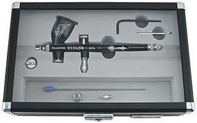 Paasche Vision Double Action Gravity Feed Airbrush Set Airbrush and Airbrush Set #tgx-2f