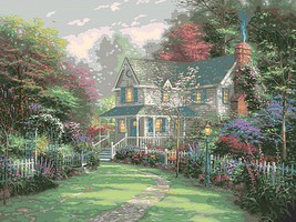 Plaid Thomas Kinkade- Victorian Garden II Paint by Number (20x16)
