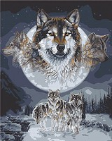 Plaid Wolf Dreamcatcher Paint by Number (16x20) Paint By Number Kit #59775