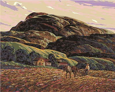 Plaid Paint By Numbers Smithsonian American Art Plowing (Horse/Man Mountain)(20''x16'') - Paint by Number Kit -- #59781